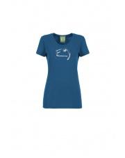 Koszulka wspinaczkowa E9 W FLIPP blue