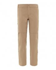 Spodnie TNF W EXPLORATION CONVERTIBLE PANT beige